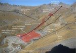 Aerial view of The Remarkables ski area showing existing lift lines and the new proposed Curvey Basin chairlift_media