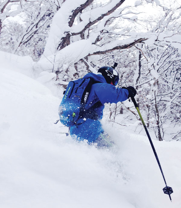 Deep skiing Furano
