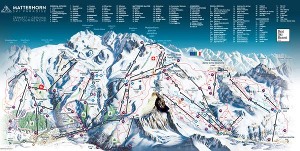 Zermatt trail map