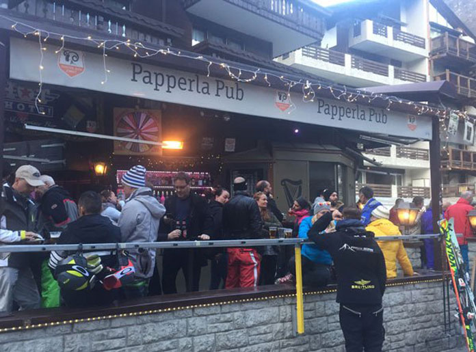 Papperla Pub apres ski Zermatt
