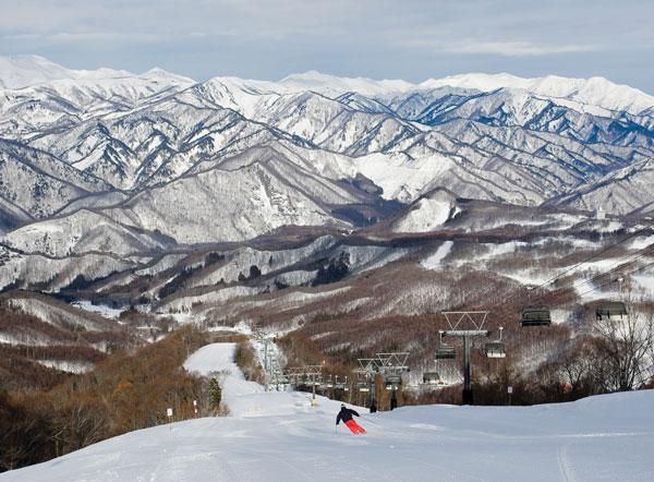 skiiing Minakami Hodaigi in Gunma