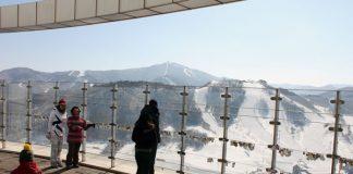 Alpensia ski jump tower view