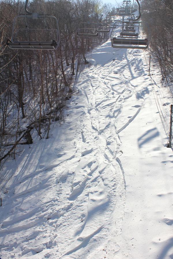 Silver Peak chairline powder at Yongpyong