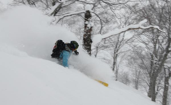 Mike Harris skiing Tenjindeira