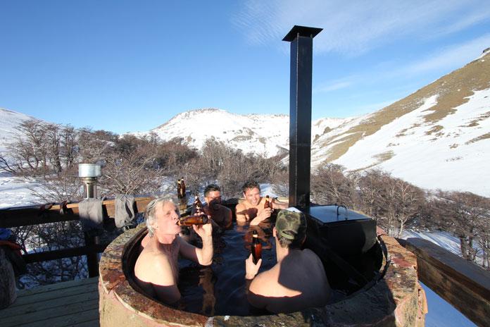 Wood fired hot tub Mallin Alto