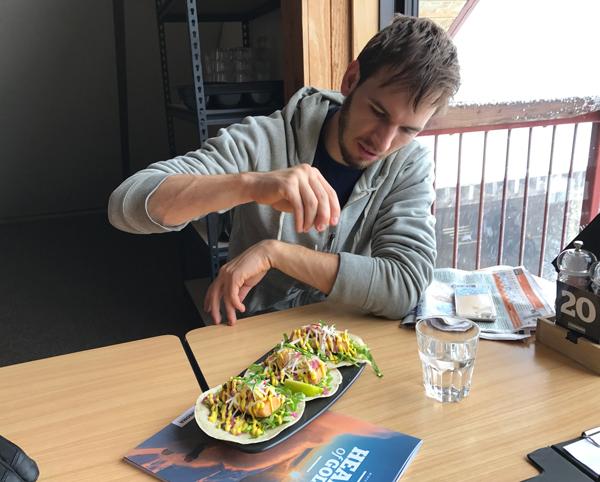 Eating at Mezz Cafe Cardrona