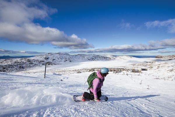 skiing at Ben Lomond Tasmania