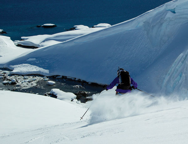 Ski Antarctica powder snow