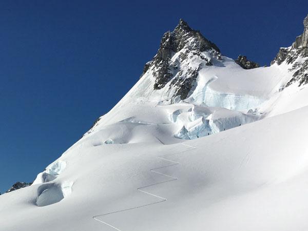 steep skin track ski Antarctica