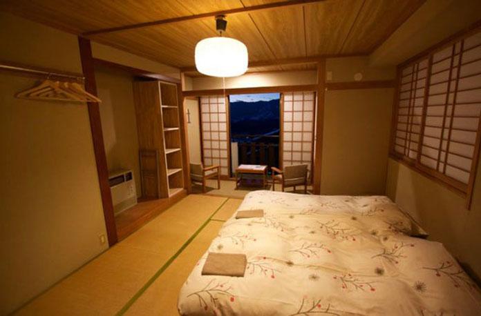 Spacious tatami room at Villa Nozawa