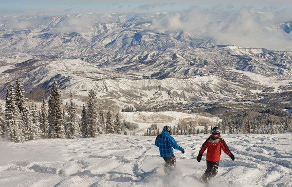 Riding powder at Snowmass