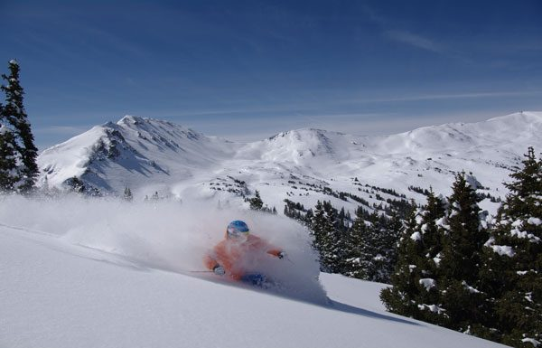 Powder skiing Loveland Colorado