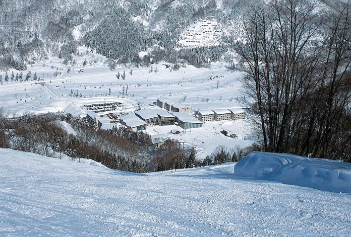 View Tangram Madarao Tokyu Resort Hotel from the slopes