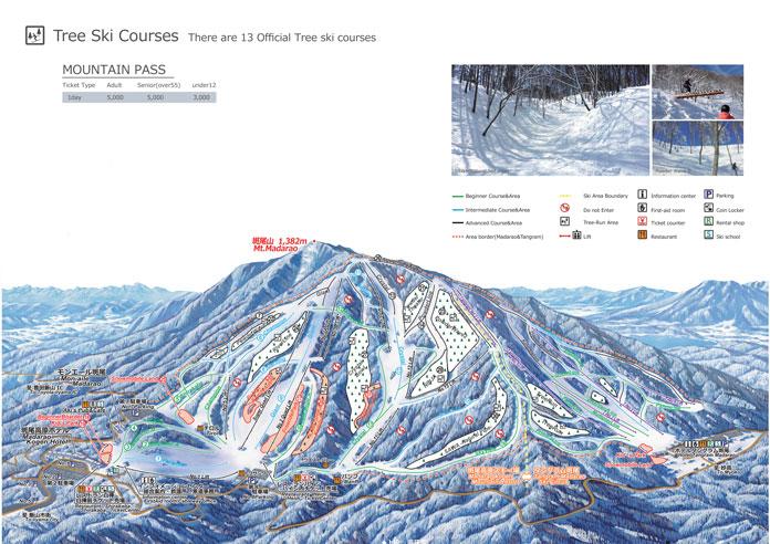 Madarao Tangram trail map