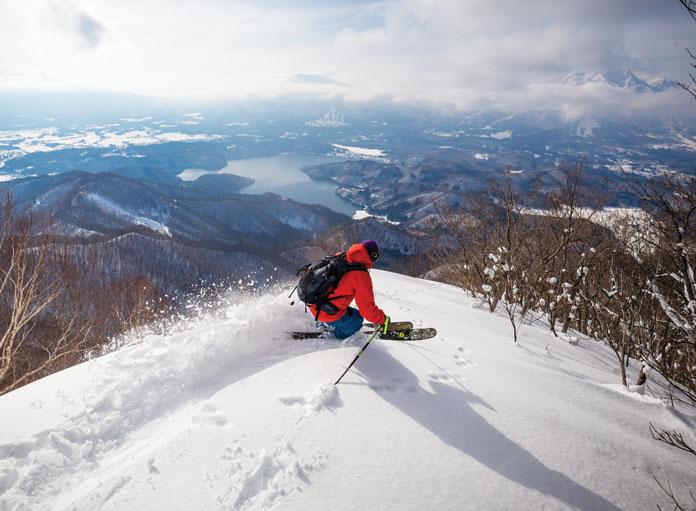 Powder skiing Madarao Tangram back country