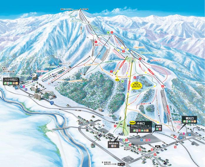 Ishiuchi Maruyam 2018-2019 trail map