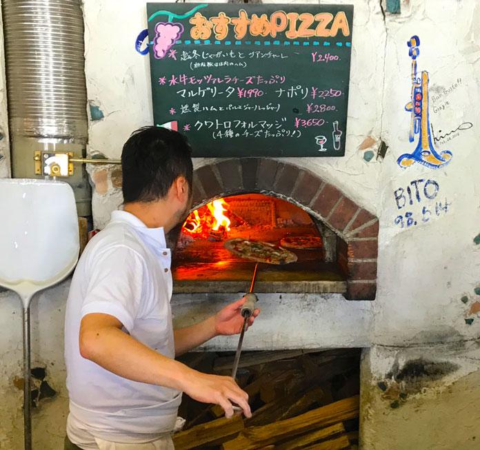 best ski resort pizza in Japan at Locanda del Pittore Iwappara Yuzawa