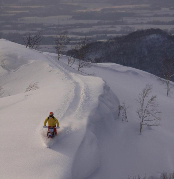 Riding Hokkaido Snow Bikes into the wild
