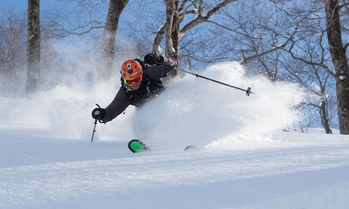 Testing Drífa snow protection clothing at Tenjindeira in Gunma Prefecture