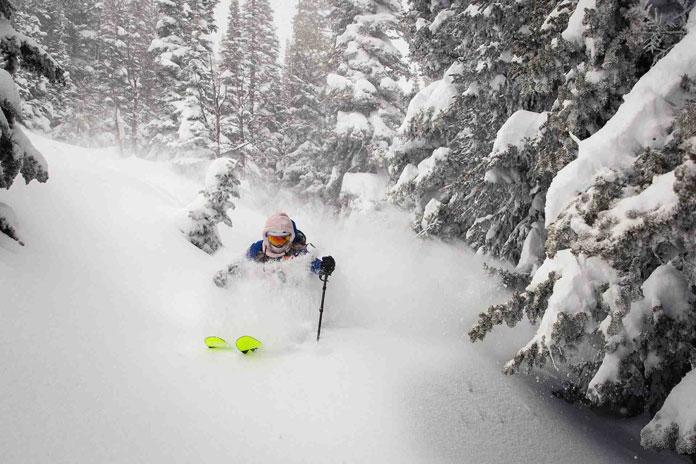 Lynsey Dyer enjoys the record February at Jackson Hole Mountain Resort