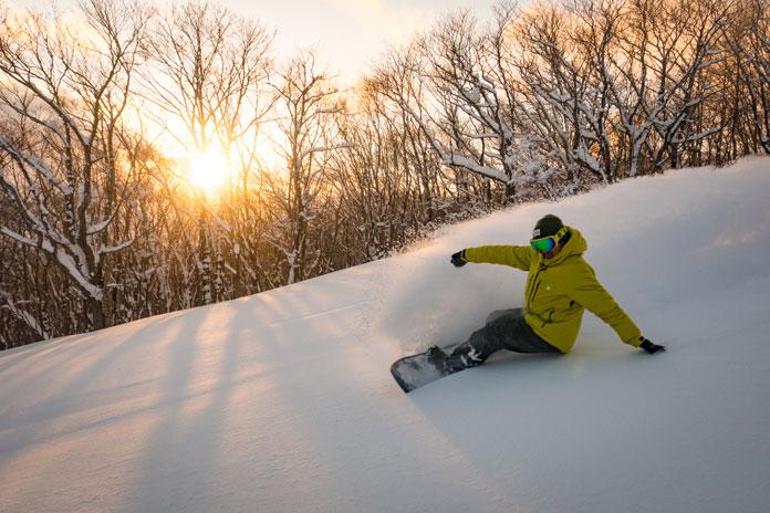 Snowboarding at Numajiri Ski Resort