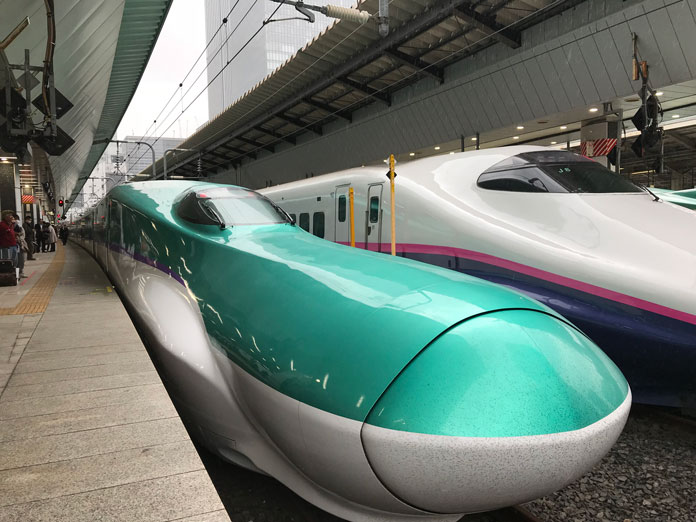 JR East Rail Hyabusa shinkansen at Tokyo station