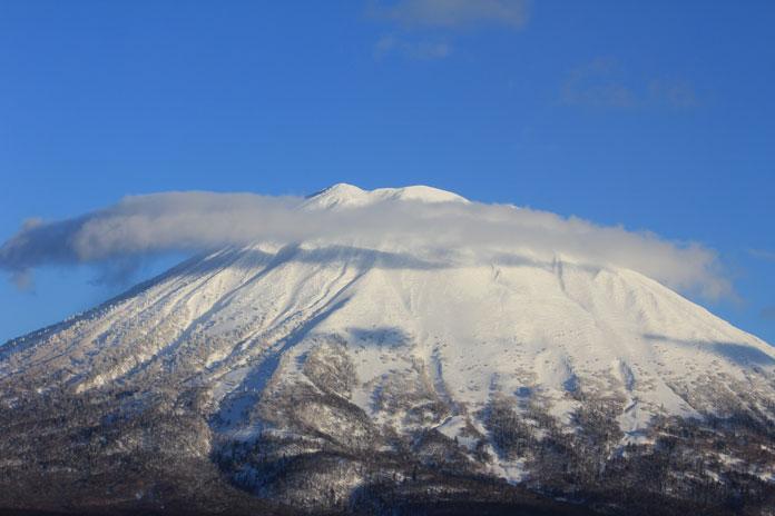 View of Mt Yotei from Niseko, an option to ad to a JR East Tohoku - Soth Hokkaido Pass ski trip