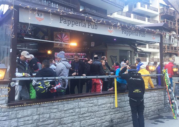 Papperla Pub is one of Zermatt's best aprés ski venues