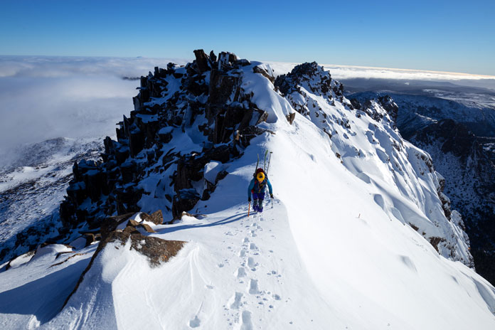 Hiking Skyline Ridge at Cradle Mountain, Tasmania