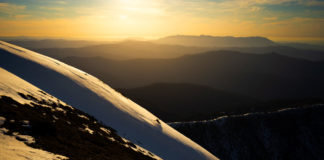 Sunset line on Feathertop's North Face
