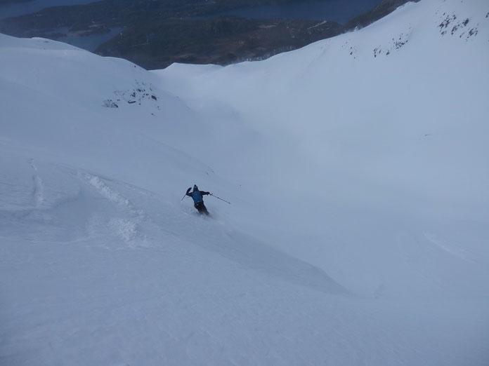 Skiing Cerro Lopez