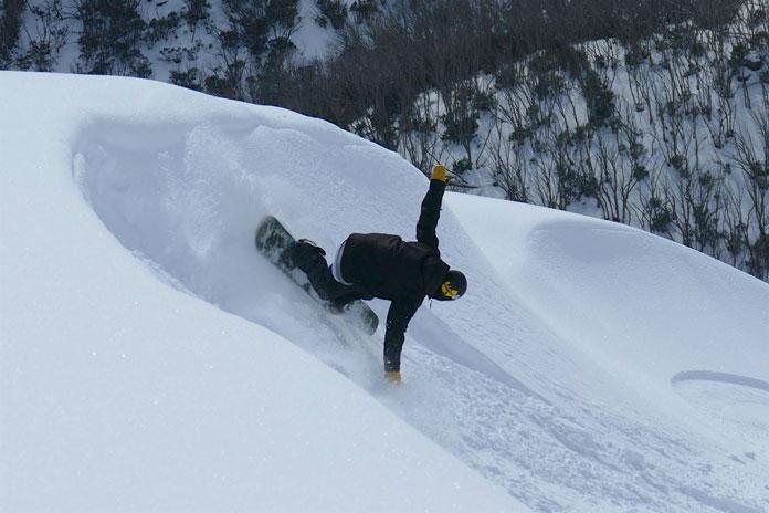 Slashing powder turn on Mt Mckay Backcountry Tours by Steve Lee
