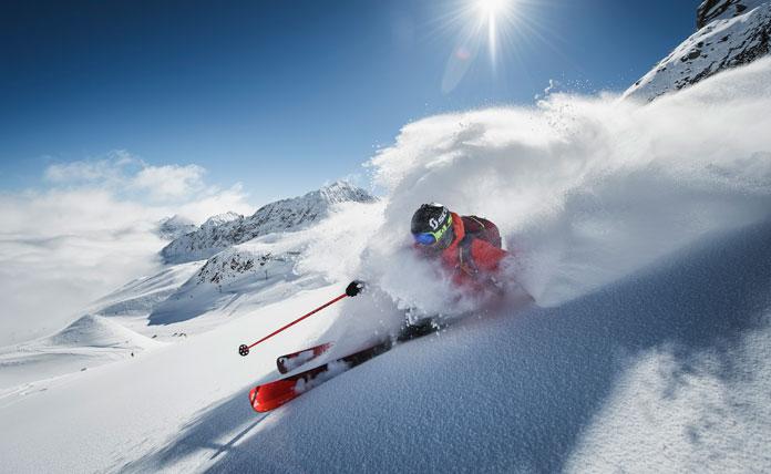 Skiing with the 'Powder Department' Stubai Innsbruck