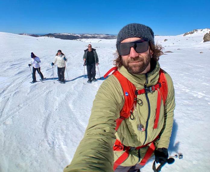 Flylow Crowe jacket snowshoe tour
