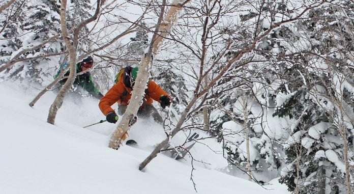 Tim Macartney-Snape skiing powder in the Tokachi Moiuntains, Hokkaido