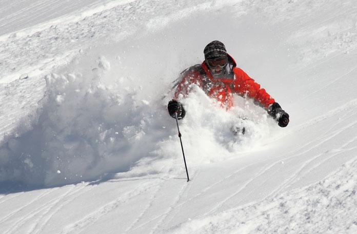 Faceshot powder skiing Asahidake