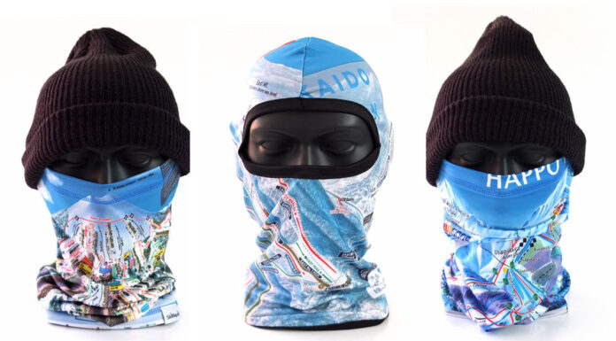 Ski Trail Map balaclavas and neck warmers