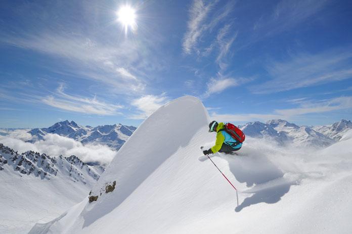 Powder skiing St Anton am Arlberg