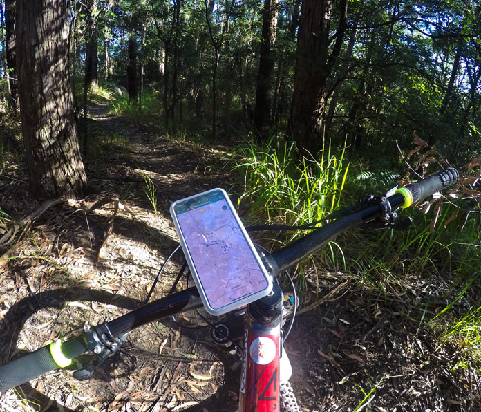The SP connect Bike Bundle mount system lets you easily follow the trail