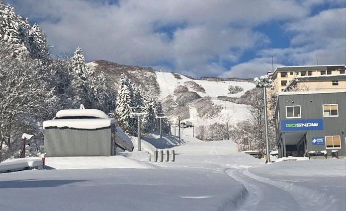 GoSnow Niseko Hirafu base slathered in fresh snow 11 November 2020