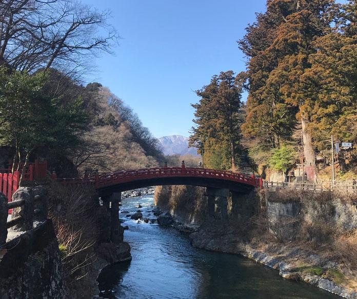 Shinkyo Sacred Bridge at Nikko Toshogu shrine complex