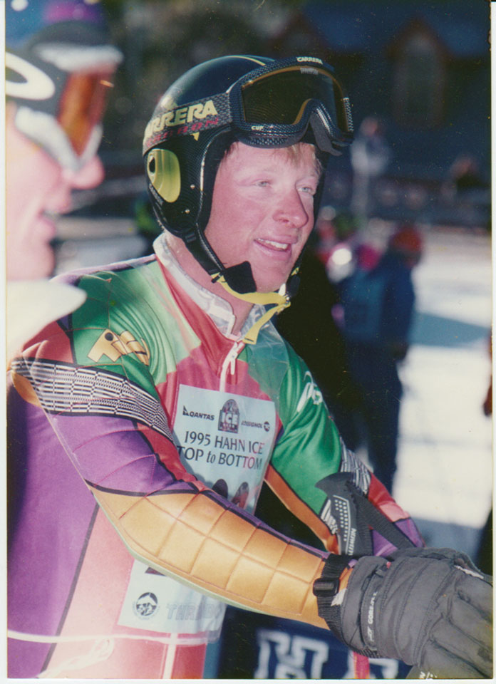 Manfred Wolscher at the 1995 Top-to-Bottom race at Thredbo, which he won