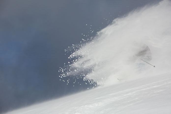 Deep powder skiing Mt Hotham during Snowmageddon 2014 season