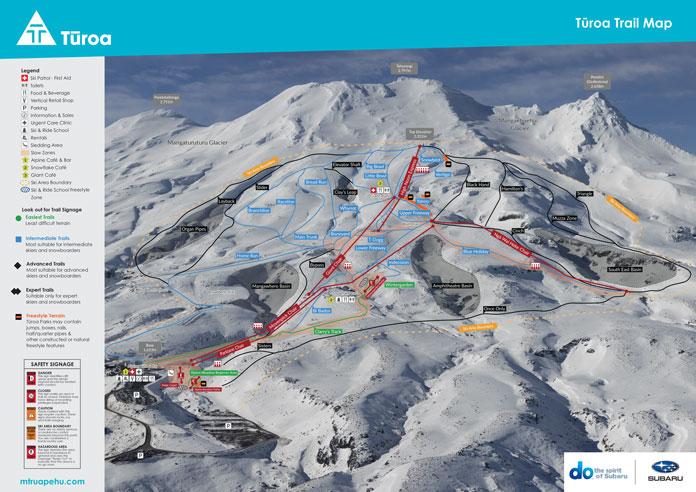 Turoa trail map