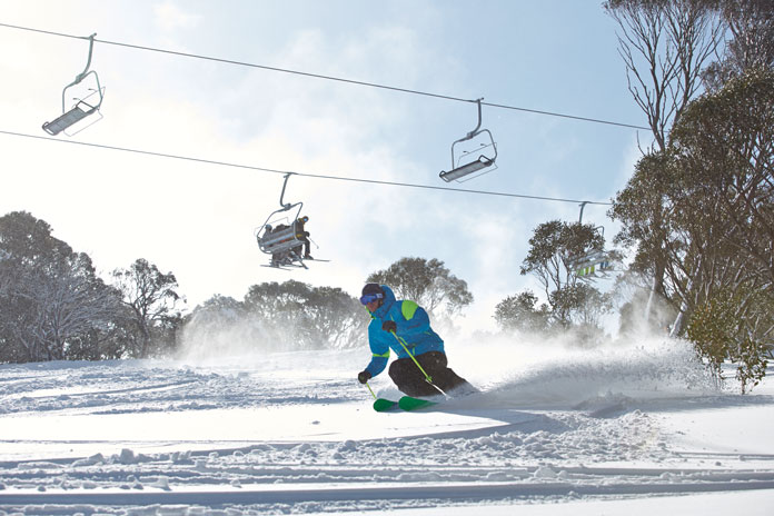 The Freedom Chair at Guthega side of Perisher opened in the middle of the snowmageddon storms in 2014