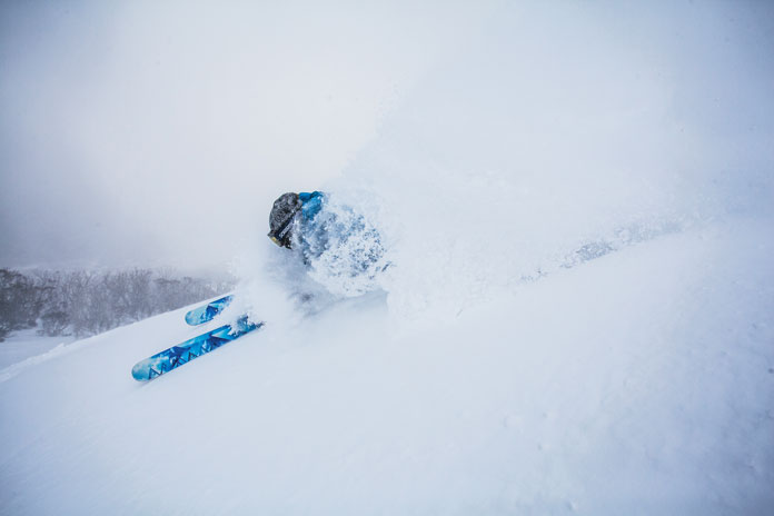 Powder skiing during 2014 Snowmageddon winter at Thredbo
