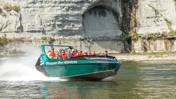 Jetboating on the Whanganui River