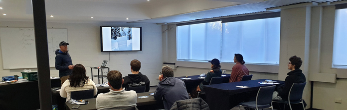 Classroom day on AST 1 Avalanche course in Australia with Alpine Access