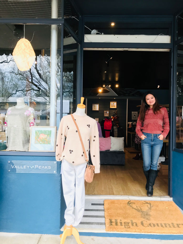 New Valley And Peaks boutique in Mt Beauty with owner Cat Azemat