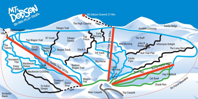 Mt Dobson trail map